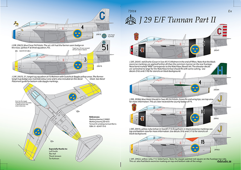 J 29 E/F Tunnan Part 2 1/72