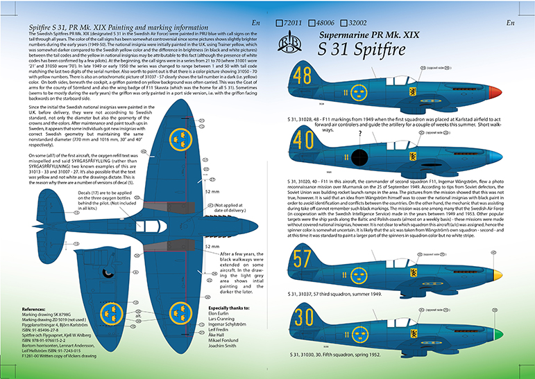 S 31 Pitfire Mk. XIX Instruction 1/32 Page 1