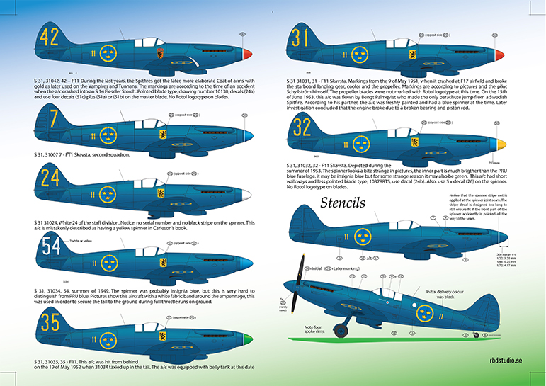 S 31 Spitfire Mk XIX Instruction 1/32 Page 2